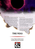 The Void, a new Otherworldly Patron and Pact Boon for warlocks