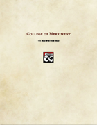 Bard Subclass-College of Merriment