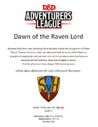 CCC-SVH-01-01 Dawn of the Raven Lord