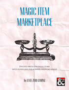 Magic Item Market - Definitive Prices for Magic Items