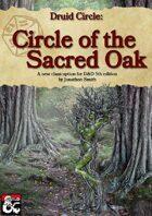Druid Subclass: Circle of the Sacred Oak