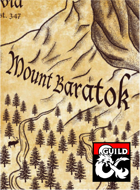 Barovia Hand Drawn Maps: Mount Baratok