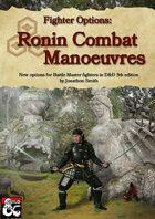 Oriental Combat Manoeuvres: Fighter Options