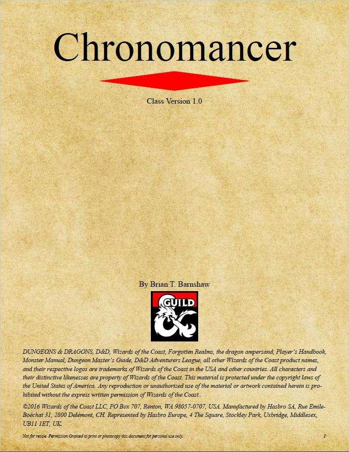 Chronomancer D 5e Pdf - roaleacodu cf