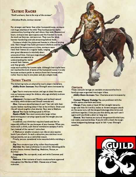 Centaur - Dungeon Masters Guild | Dungeon Masters Guild