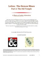 Leilon: The Demon Mines Part2 The Old Temple