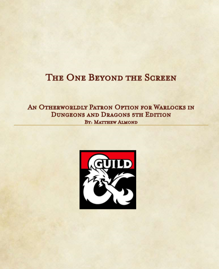 Warlock Patron: The One Beyond The Screen (5e) - Dungeon Masters Guild |  Dungeon Masters Guild
