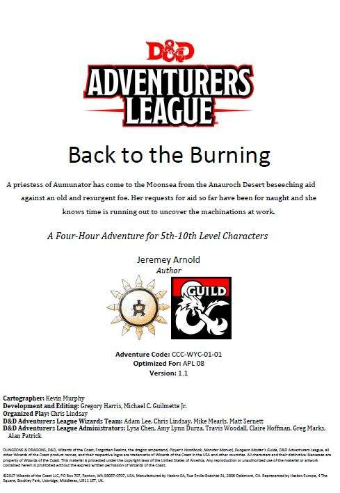 CCC-WYC-1-1 Back to the Burning