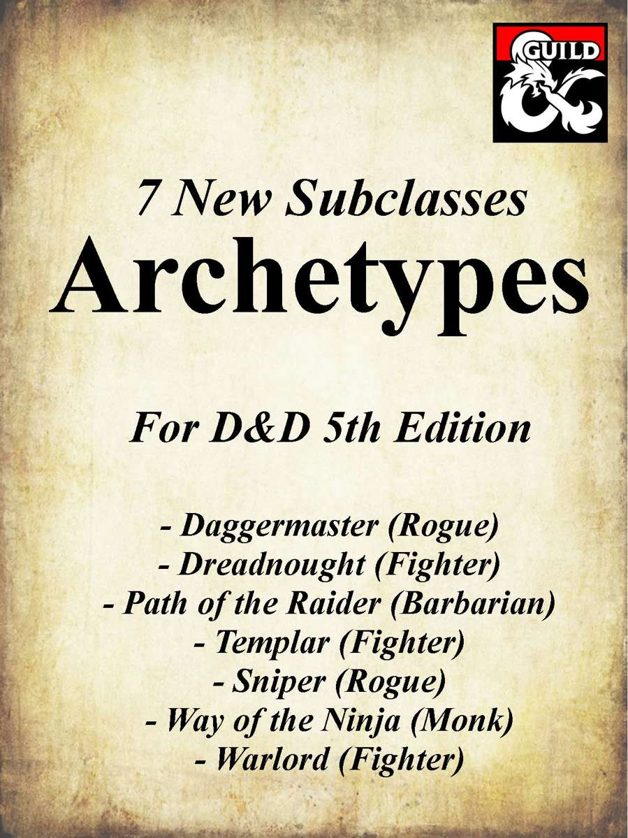 7 Archetype Subclasses for 5e - Dungeon Masters Guild | Dungeon