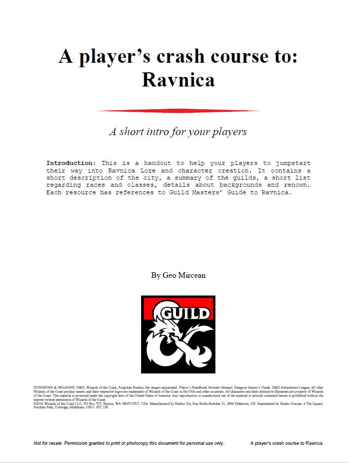 A player's crash course to: Ravnica