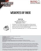 CCC-BMG-37 Weakness of Rock