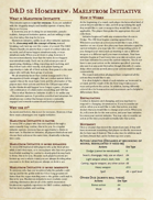 Maelstrom Initiative: A 5e Variant for Players and GMs who love speed, engagement, and immersion, but don't mind a few rules.