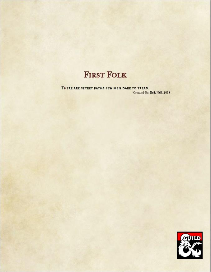 First Folk (5e)