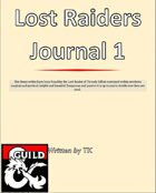 Lost Raiders Journal 1