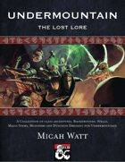 Undermountain: The Lost Lore