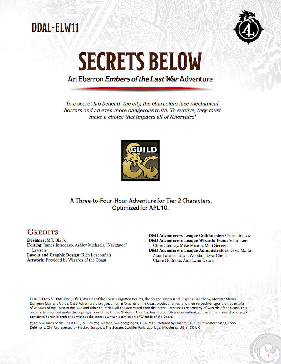 DDAL-ELW11 Secrets Below
