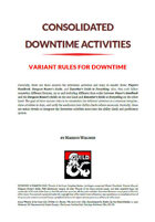 Consolidated Downtime Activities