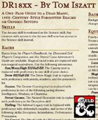 DR18xx - A One-Page Guide to a Dead Magic, 19th-Century-Style Forgotten Realms or Generic Setting