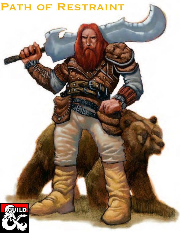 Barbarian Path of Restraint (5e) - Dungeon Masters Guild | Dungeon