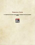 Paladin Subclass-Personal Oath