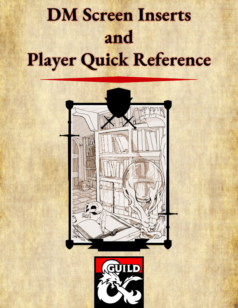 photo regarding Printable Dm Screen 5e Portrait titled DM Display screen Inserts and Straightforward Reference Sheets - Dungeon