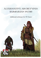 Alternative Archetypes: Barbarian Paths