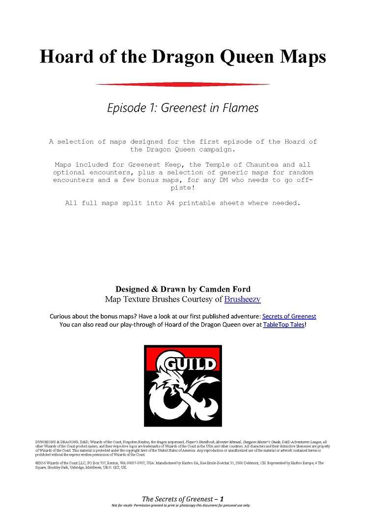 Hoard Of The Dragon Queen Maps Episode 1 Greenest In Flames