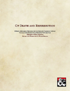 Of Death and Resurrection