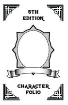 5e Character Folio Booklet