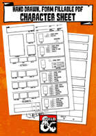 D&D 5E Hand Drawn A5 Character Sheet