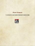 Cleric Subclass-Hunt Domain