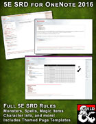 Onenote 5E SRD