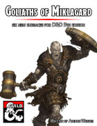 Goliaths of Miklagard: Six new subraces for 5th Edition D&D