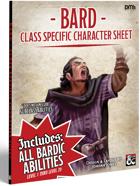 5e D&D - Class Specific Character Sheet Bard