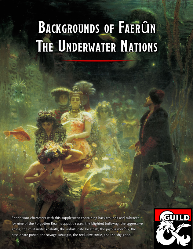 Backgrounds of Faerûn: The Underwater Nations - Dungeon Masters Guild    Dungeon Masters Guild