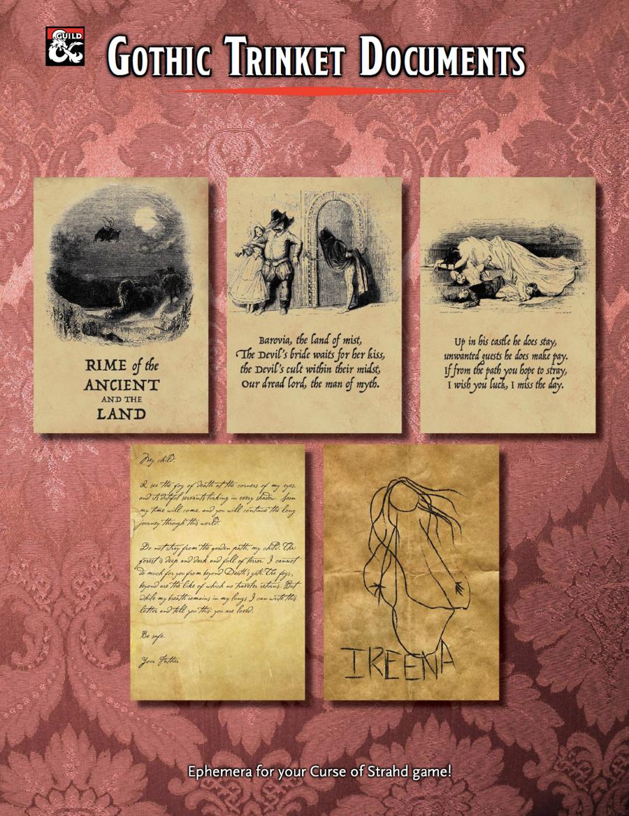 Gothic Trinket Documents