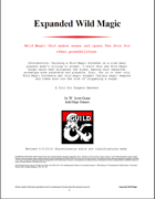 Expanded Wild Magic