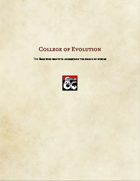 Bard Subclass-College of Evolution