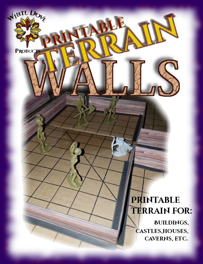 graphic regarding Printable Terrain identified as Printable Terrain Partitions - Dungeon Masters Guild Dungeon Masters Guild