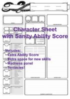 Sanity Character Sheet