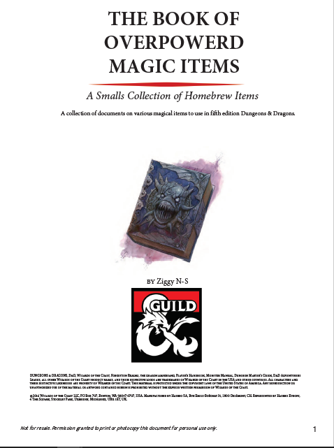 The book of Overpowered Magic Items (v2)