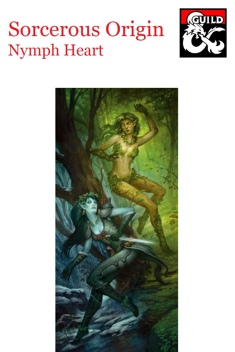 Sorcerous Origin - Nymph Heart (Aura, Dryad, Naiad, Nereid
