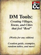 "DM Tools: Create ""Real"" settlements"