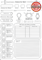 Detailed 5e Character Sheet