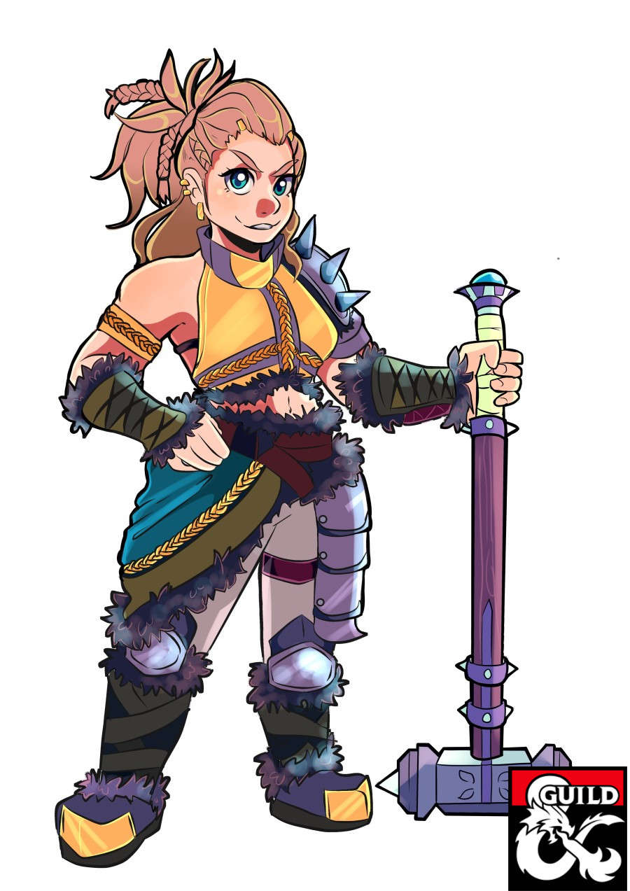 Anjie, the Dwarf Barbarian (Pregenerated Character Sheet for D&D 5e) -  Dungeon Masters Guild | Dungeon Masters Guild