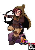 Merric, the Halfling Rogue (Pregenerated Character Sheet for D&D 5e)