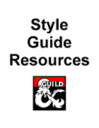 DMs Guild Creator Resource - Style Guide Resources