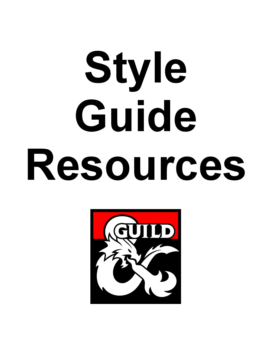 DMs Guild Creator Resource - Style Guide Resources - Dungeon