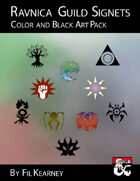 Ravnica Guild Signets Color and Black Art Pack