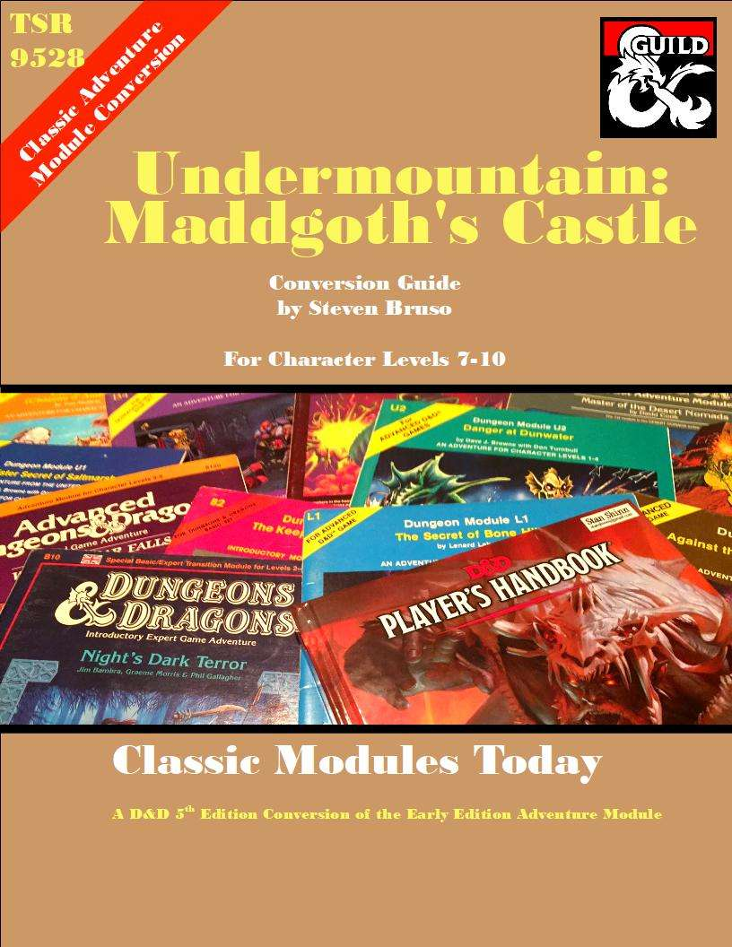 Classic Modules Today: Undermountain, Maddgoth's Castle (5e) - Dungeon  Masters Guild | Dungeon Masters Guild